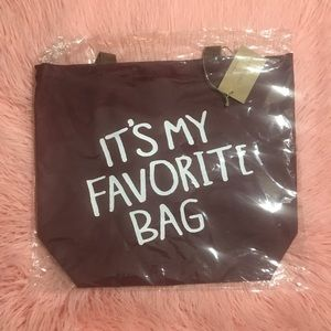 Handbags - NWT: Burgundy Tote Bag ✨SOLD